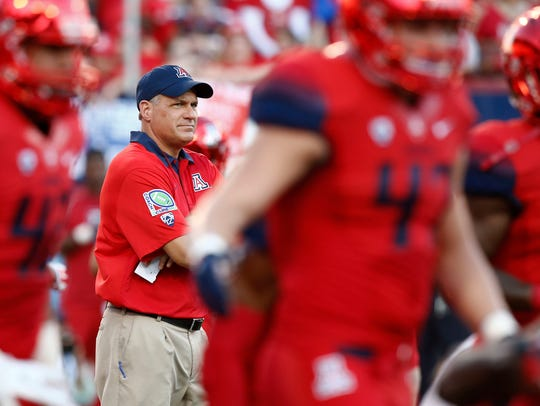 Fired Arizona head coach Rich Rodriguez.