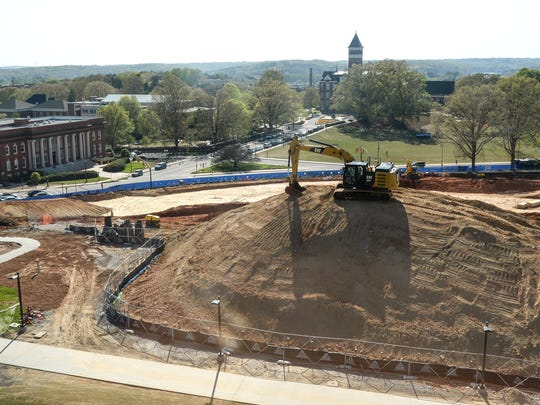 The $87 million, 170,000-square-foot Clemson University College of Business building, across from Sikes Hall and Bowman Field, is expected to be open in early 2020.
