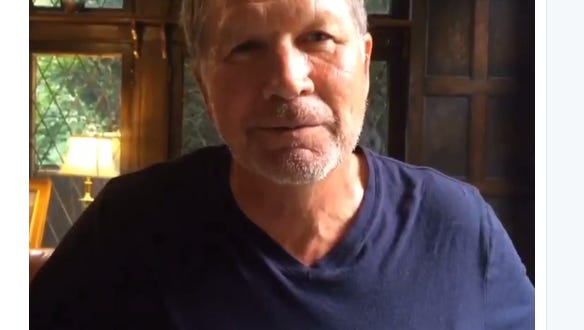 Screen grab of John Kasich from Twitter video
