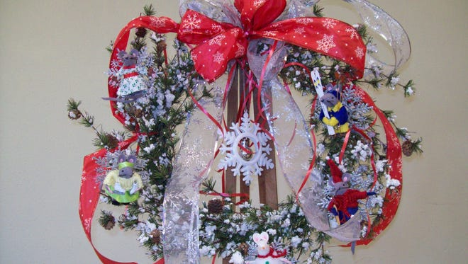 A winter wreath featuring winter Cathedral Mice will be raffled at the St. Nicholas Faire on Dec. 5.