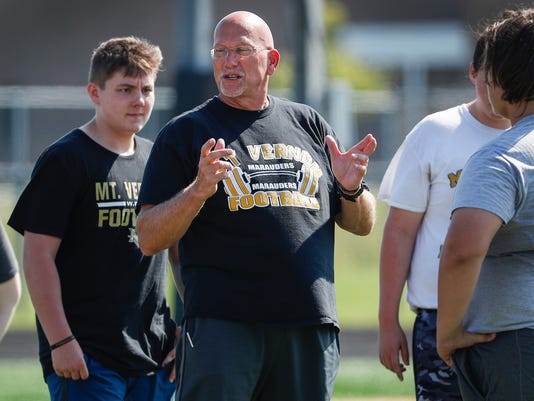 Mike Kirschner new head football coach at Mount Vernon High School.