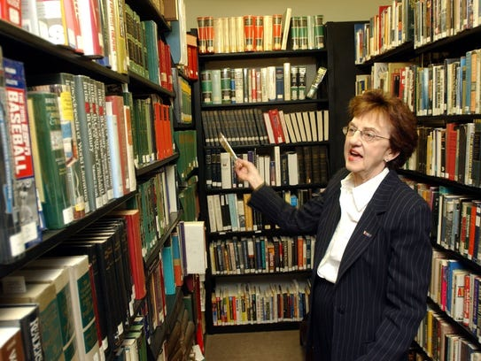Former library Director Marilyn Tinter worked for many