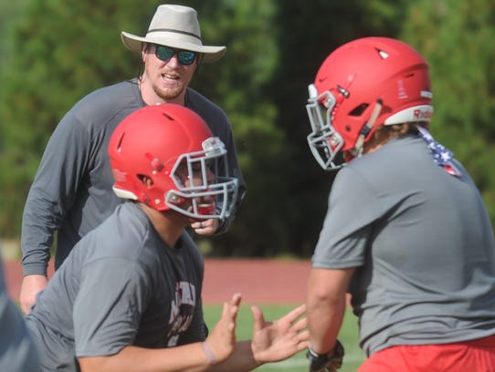 Sweetwater offensive coordinator Blake Spears works