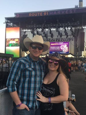 David Hendrickson and Michelle Wolters at the Route 91 Harvest festival. After a mass shooting interrupted the concert, Hendrickson and Wolters joined dozens of other people in driving victims to the hospital.