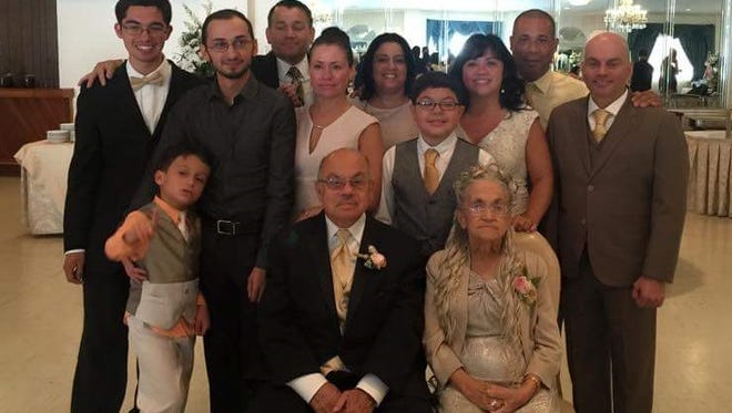 Juan and Enid Ramos (seated) celebrated their 50th wedding anniversary on Sept. 19 at Masso's Crystal Manor in Glassboro.