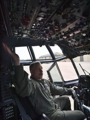 Col. Fred Foote, group commander of the 129th Rescue Wing of the Air National Guard, talks about flying the final flight of an MC-130P cargo plane from California to Sheppard Air Force Base.