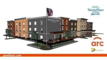 Plans for the new TownePlace Suites by Marriott in Jeffersonville.