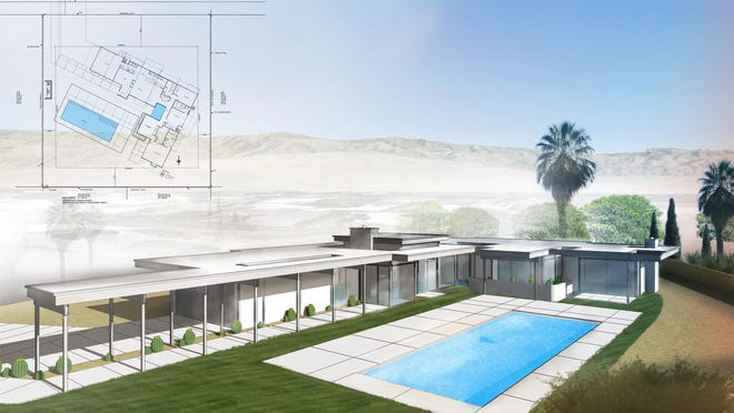 A rendering of Steel and Glass 2015, designed by Donald Wexler and being built by Better Built, Inc. in Palm Springs.