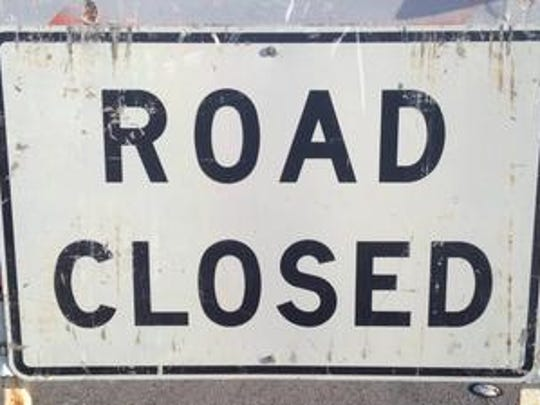 A sewer line break on Washington Street has closed two southbound lanes in the area of Fred Waring Drive on Wednesday, Feb. 6, 2019.