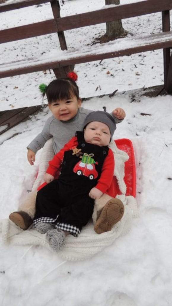 My daughter Lilia (20 Months old) & my son Easton (3 1/2 months old)