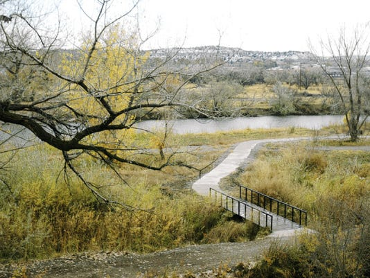 The Animas River trail is pictured in November 2011 in Aztec.
