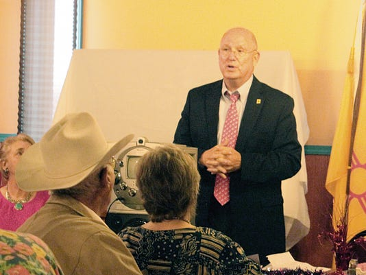 State Sen. Michael Sanchez, D-Dist. 29, spoke at the 11th annual Democratic Party of Otero County Labor Recognition Breakfast Saturday morning. Sanchez lauded organized labor's historical role in fighting for labor rights in the United States.