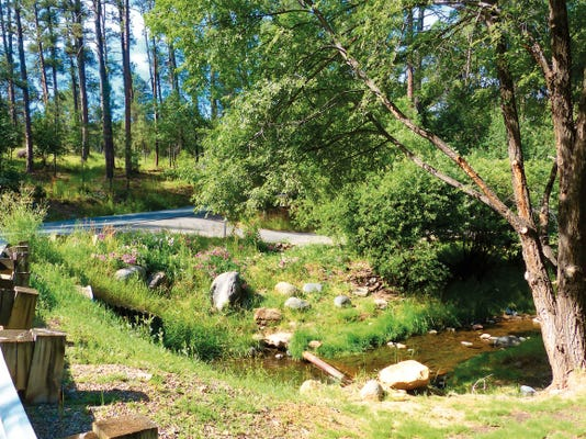 Stream flow on the Rio Ruidoso remains strong.