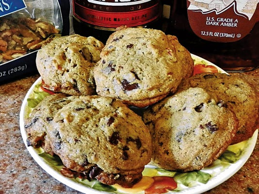 The Happy Baker's maple, coffee, chocolate chip cookies.