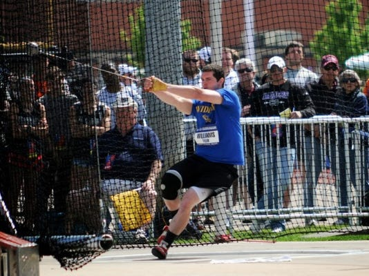 Tyler Williams (South Western) enters this weekend's NCAA Division III track and field championships as the No. 1 seed in the hammer throw.
