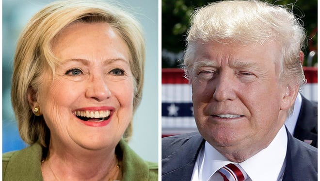 Democratic presidential candidate Hillary Clinton, left, and Republican presidential candidate Donald Trump in these 2016 file photos.