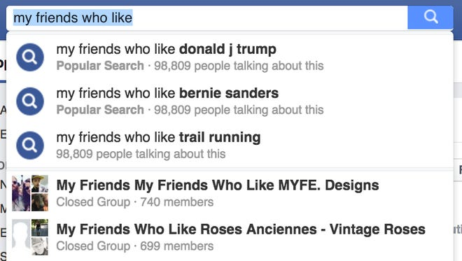 My friends who like presidential candidates on Facebook.
