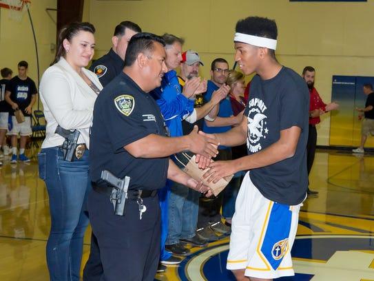 Mesilla Valley Christian School basketball player John