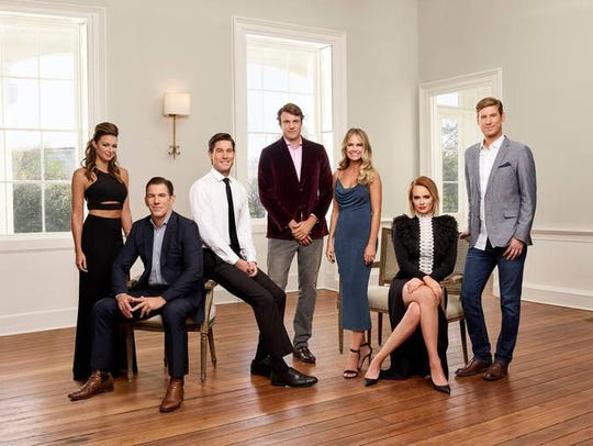 "Pictured, from left, are the stars of ""Southern Charm,"""