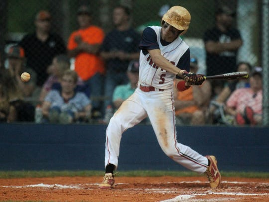 Wakulla Christian's Destin Todd was 3 for 3 with a