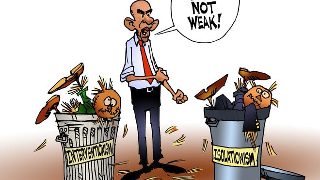 Obama vs. straw men.