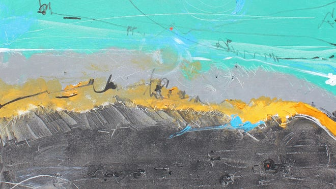 """""""Seascape"""" by Wayne Lerman, part of the """"Thirteen Abstract Artists"""" exhibit."""