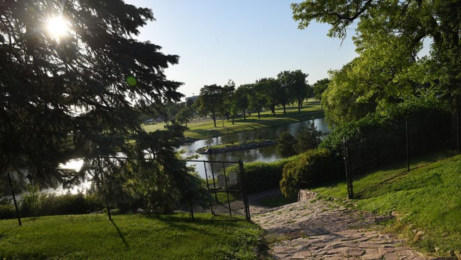 The quartzite pavers at Terrace Park on Thursday, June 9, 2016.