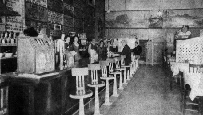 Interior of the Palace Cafe in 1935