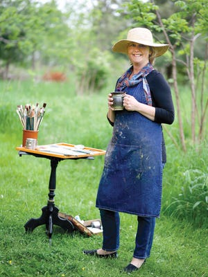 Cindy Harris in her element: She loves the outdoors and making art.