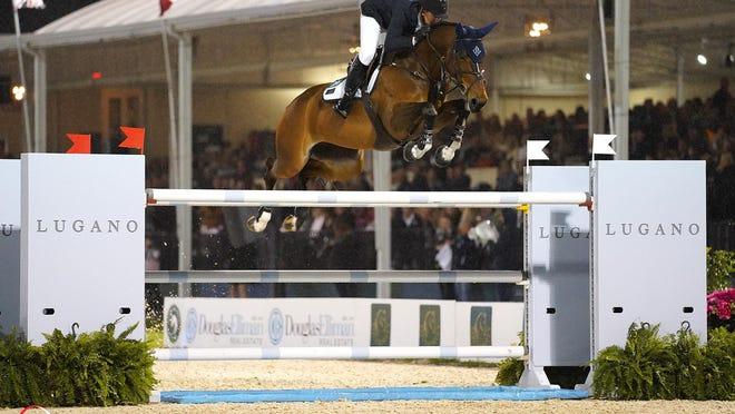 McLain Ward and HH Azur won a six-rider jumpoff Saturday night to capture the Lugano Diamonds Grand Prix at Palm Beach International Equestrian Center.