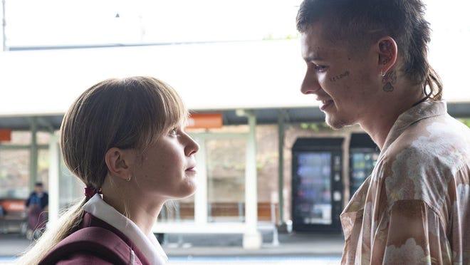 "Milla (Eliza Scanlen), left, and Moses (Toby Wallace) star in ""Babyteeth"""
