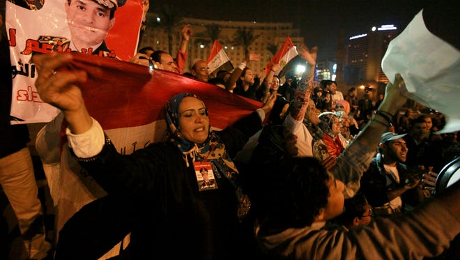 Tahrir Square in Cairo, Egypt, on Saturday.