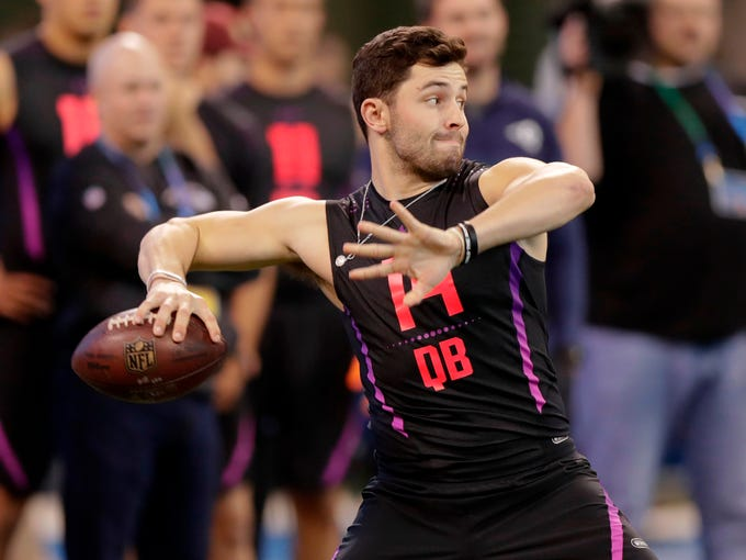 1. Cleveland Browns - Baker Mayfield, QB, Oklahoma