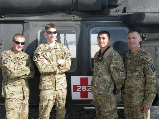 The medevac crew that evacuated a Marine with unexploded