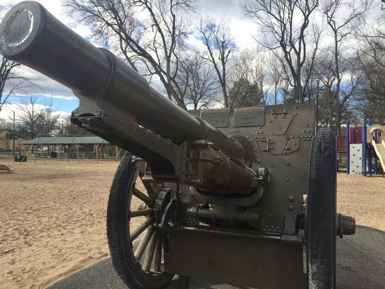 This cannon was given to the city in 1932. It sits