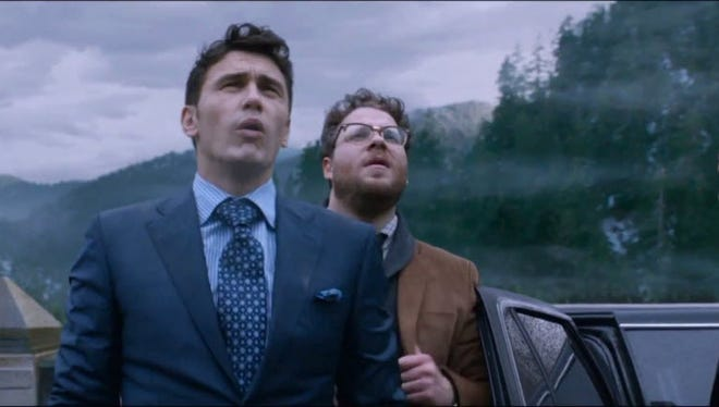 James Franco, left, and Seth Rogen get involved in a CIA plan to assassinate the North Korean ruler.
