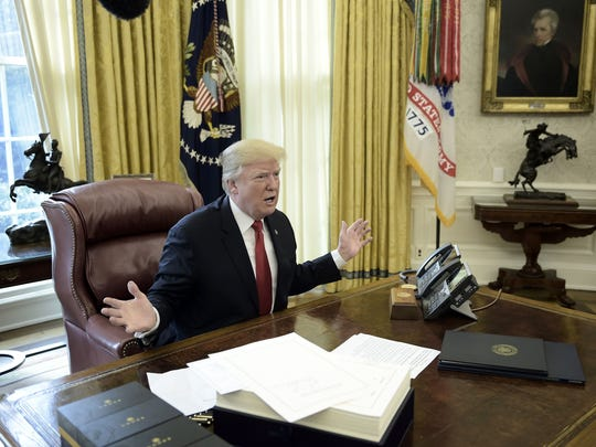 President Trump talks about taxes as he prepares to