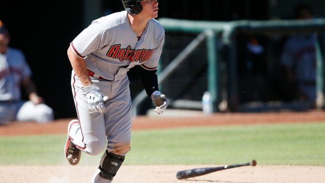 Diamondbacks catching prospect Peter O'Brien has few issues with the bat: He hit 34 home runs in the minor leagues in 2014 and has three for the Surprise Saguaros in the Arizona Fall League. The question is whether he can catch in the majors.