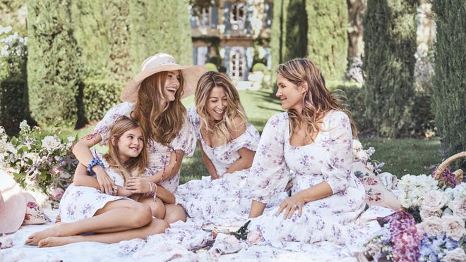 The dresses LoveShackFancy founder and creative director Rebecca Hessel Cohen created in collaboration with Aerin Lauder. The three styles are available in girls' and womens' sizes.