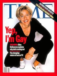 The April 1997 Time magazine cover featuring Ellen