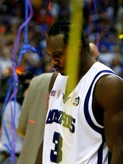 Memphis' Joey Dorsey walks off the court after the