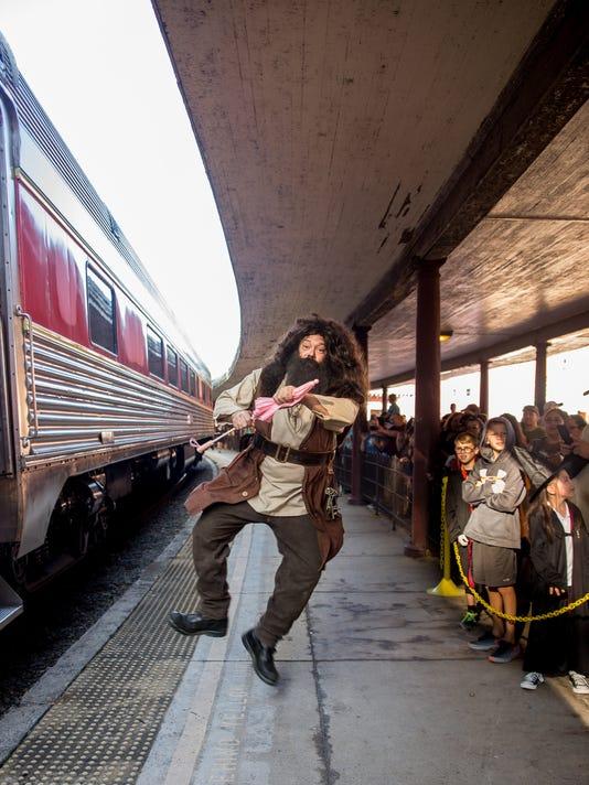 Hagrid at train