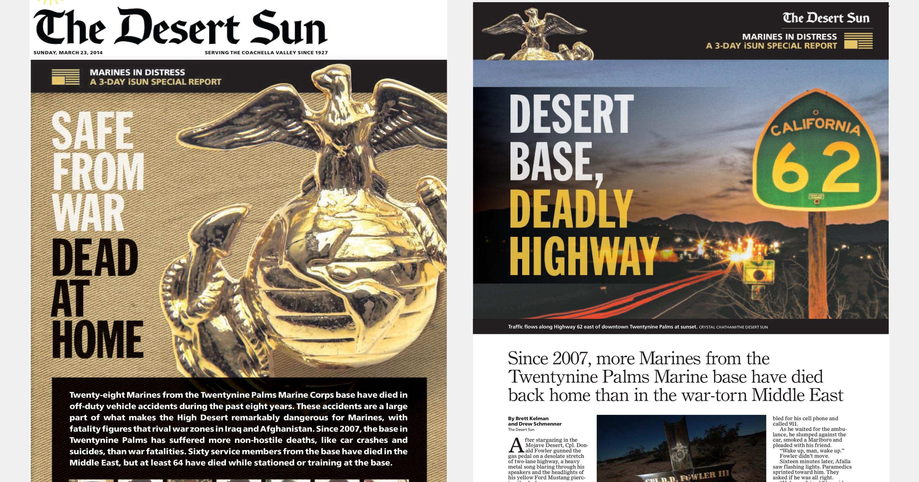 Marines in Twentynine Palms: More die at home than in Middle East