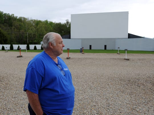 Skyview Drive-In owner Walt Effinger, shown in this Eagle-Gazette file photo, will show a video of the Amanda Clearcreek High School virtual graduation around 9 p.m. on May 24 at the theater. Those in attendance must remain in their vehicles during the showing.
