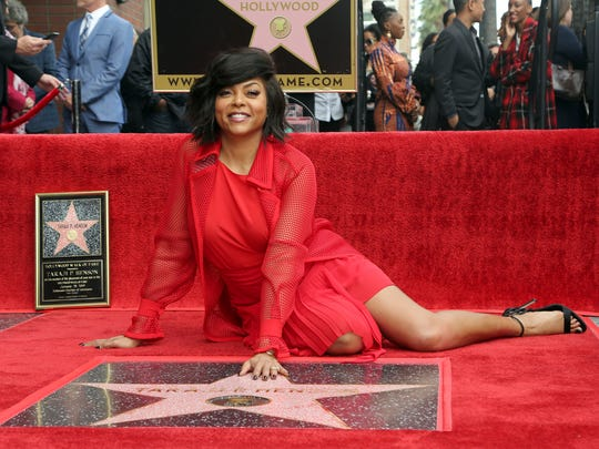 """Jan. 28, 2019, belongs to Taraji P. Henson! Her new movie """"What Men Want,"""" premieres and here she poses with her new star on the Hollywood Walk of Fame."""