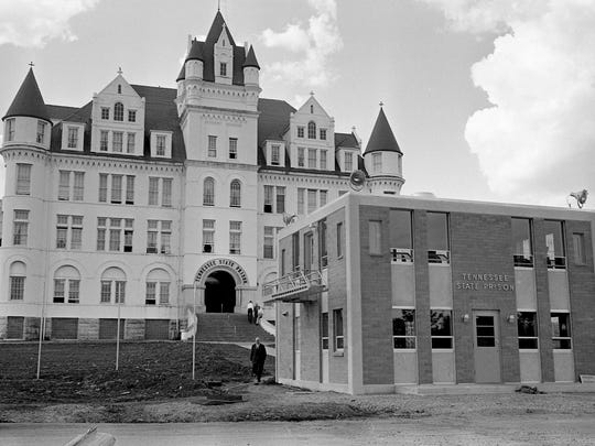 This May 1962 file image shows the Tennessee State prison with the guard station in front of the administration building.