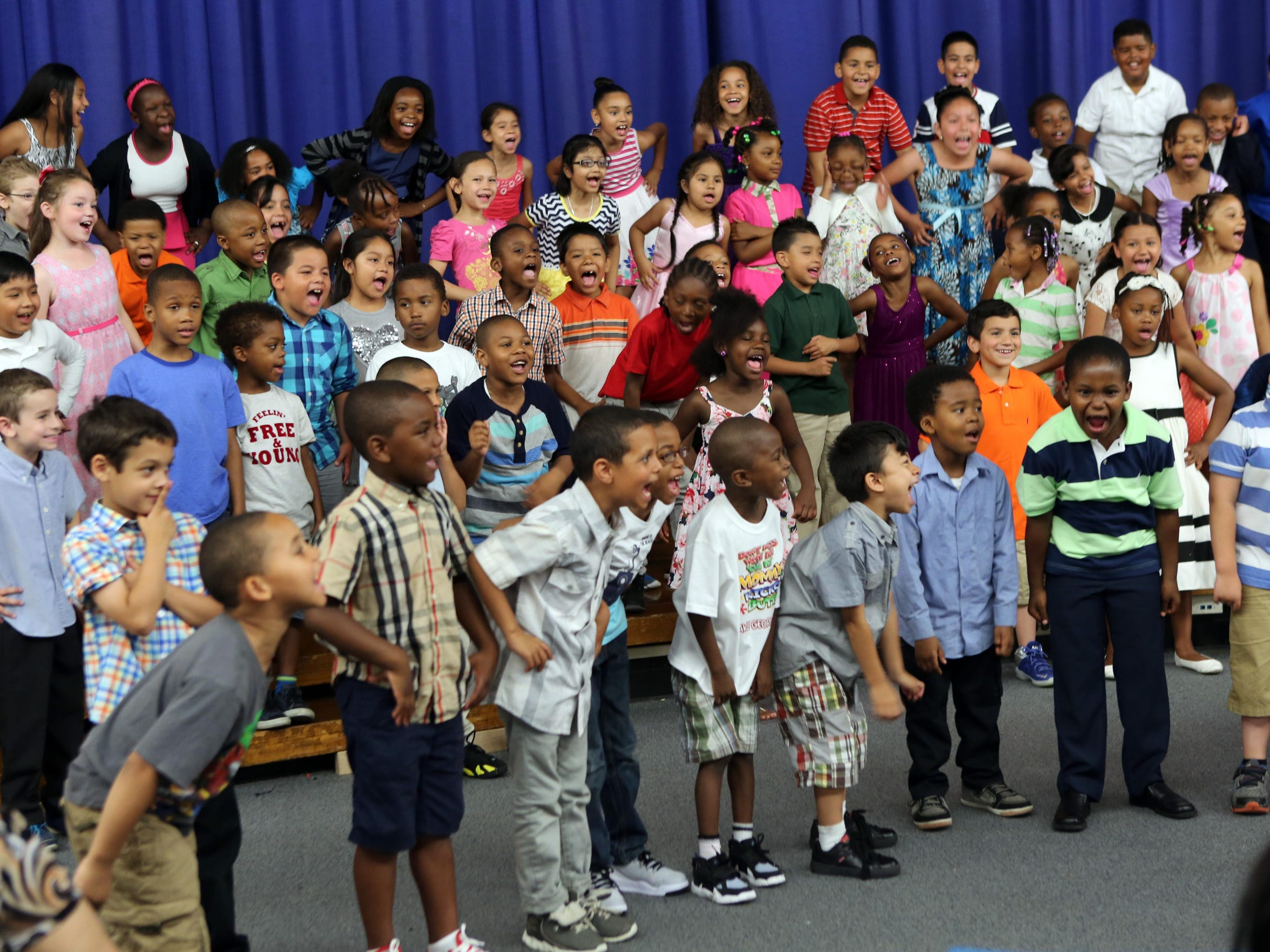 Students from Cross Hill Academy in Yonkers perform