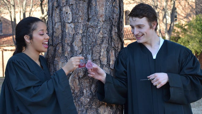 """Kaylor Winter-Roach and Jonathon Stone star in Shakespeare's """"Love's Labour's Lost"""" at Midwestern State University."""