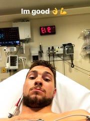 Alexander Burmistrov ensures fans he is OK in an Instagram post.