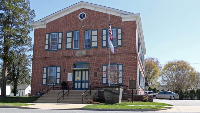 Delaware City Hall on Clinton Street. Delaware City's Council postponed Tuesday election for town council. State election officials said elections for three of the city's five council seats were halted on Monday because of an error in the legally-mandated election notice.